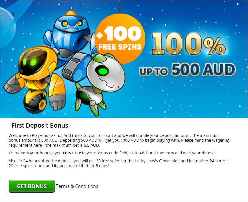 100% up to 500 AUD bonus