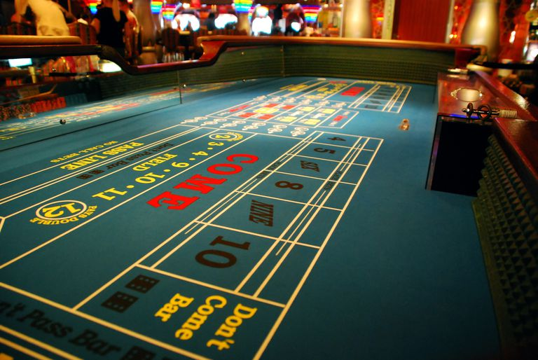 Craps Table at the casino
