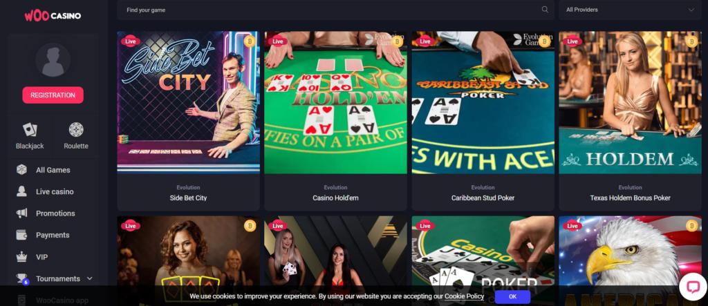 woo casino live